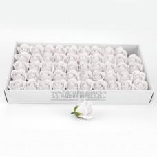 Flori sapun trandafir ALB